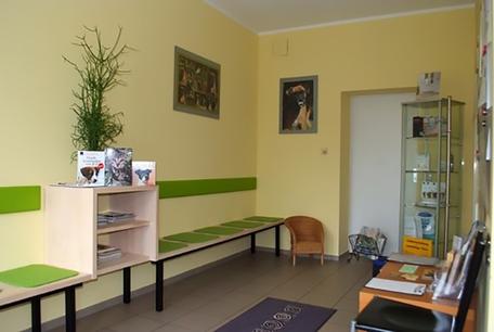 Wartezimmer der Kleintierpraxis Dr. Obermüller