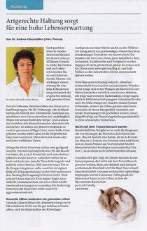 """Artikel aus dem Magazin """"Tier & Co"""" von Frau Dr. Obermüller"""